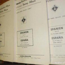 Sellos: OFERTA LEUCHTTURM -FARO ESPAÑA 1950/1980 USADAS, 144 HOJAS CON ESTUCHES TRANSPARENTES, SIN SELLOS. Lote 85053076