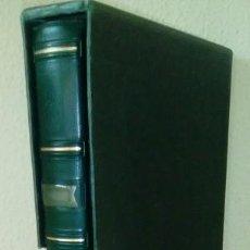Sellos: ÁLBUM PARDO Mº. 1000, 15 ANILLAS ( CONTIENE 20 HOJAS DE 3 DEPARTAMENTOS Mº. 1023 PAT. ) COLOR VERDE. Lote 96063267