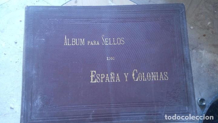 ALBUM DE SELLOS DE ESPAÑA Y SUS COLONIAS MADRID 1888 (Sellos - Material Filatélico - Álbumes de Sellos)