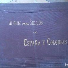 Sellos: ALBUM DE SELLOS DE ESPAÑA Y SUS COLONIAS MADRID 1888. Lote 98448583