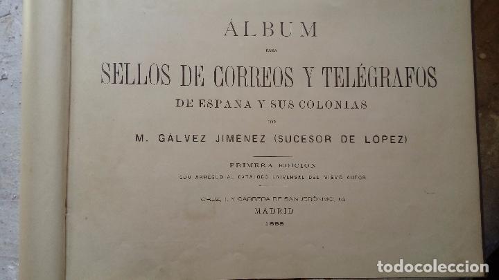 Sellos: ALBUM DE SELLOS DE ESPAÑA Y SUS COLONIAS MADRID 1888 - Foto 4 - 98448583