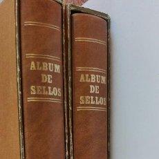 Sellos: 2 ÁLBUMES SELLOS FILABO CON CAJETIN,MARRONES CLAROS. Lote 101065847