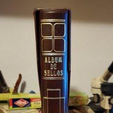 Sellos: ALBUM DE SELLOS MARCA CREAFIL COMO NUEVO CUBIERTA DE CURPIEL MARRÓN NL570. Lote 103723139