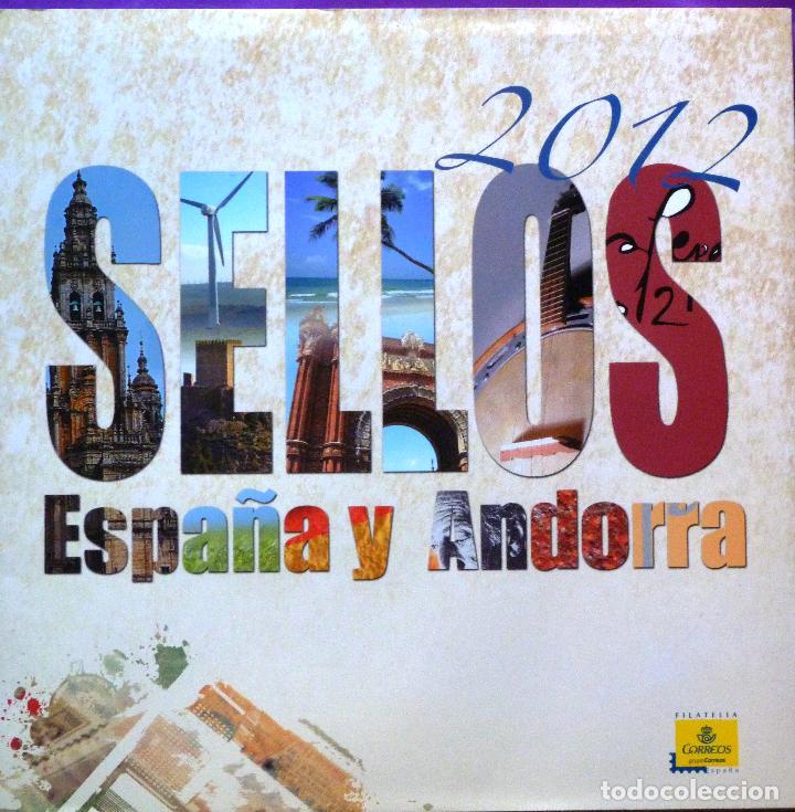 2012-ESPAÑA Y ANDORRA EN LIBRO-ÁLBUM SERVICIO FILATÉLICO DE CORREOS - SIN SELLOS (Sellos - Material Filatélico - Álbumes de Sellos)