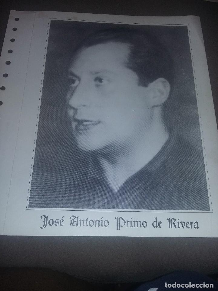 EDICION SELLOS JOSE ANTONIO PRIMO DE RIVERA FE-JONS CANTABRIA 1983 CON CARPETA Y SOBRE EST. 312 (Sellos - Material Filatélico - Álbumes de Sellos)