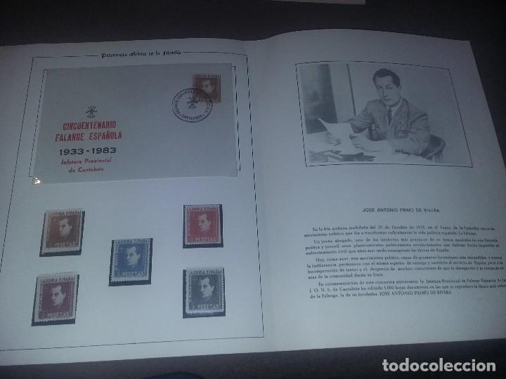 Sellos: EDICION SELLOS JOSE ANTONIO PRIMO DE RIVERA FE-JONS CANTABRIA 1983 CON CARPETA Y SOBRE EST. 312 - Foto 2 - 104538019