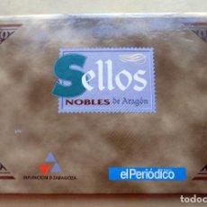 Sellos: SELLOS, NOBLES DE ARAGON. EL PERIODICO DE ARAGON. PLATA DE PRIMERA LEY, 925.. Lote 106704075