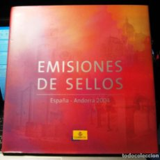 Sellos: ESPAÑA 2004. ALBUM - LIBRO DE CORREOS DE SELLOS DE ESPAÑA Y ANDORRA 2004. CON SELLOS.. Lote 190908512