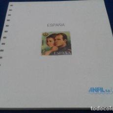 Sellos: HOJAS PARA SELLOS ANFIL ESPAÑA AÑOS 1976 AL 1989 SIN MONTAR 43 HOJAS + PORTADA NUEVO VER FOTOS. Lote 120693299