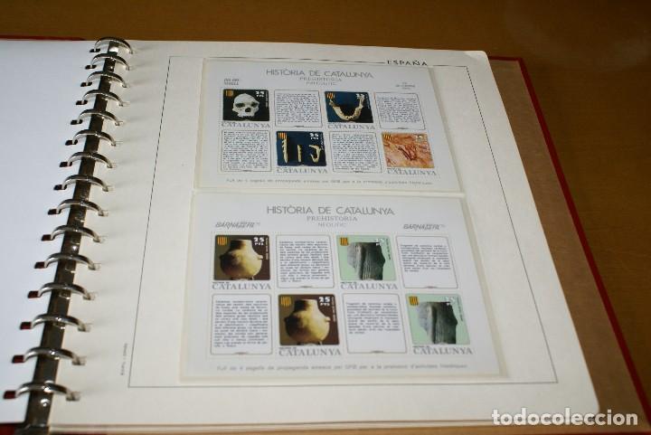 Sellos: ALBUM COMPLETO CON LAS 32 HOJAS BLOQUE DE LA HISTORIA DE CATALUNYA EN HOJAS EDIFIL - Foto 2 - 122396799