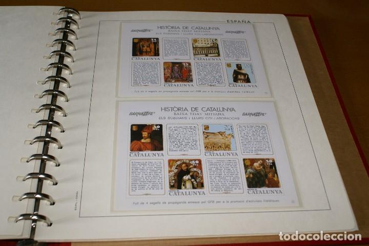 Sellos: ALBUM COMPLETO CON LAS 32 HOJAS BLOQUE DE LA HISTORIA DE CATALUNYA EN HOJAS EDIFIL - Foto 4 - 122396799
