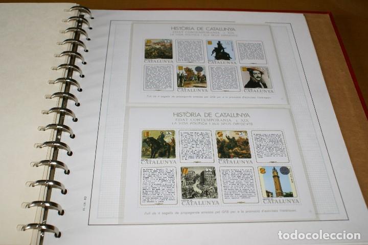 Sellos: ALBUM COMPLETO CON LAS 32 HOJAS BLOQUE DE LA HISTORIA DE CATALUNYA EN HOJAS EDIFIL - Foto 6 - 122396799