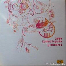 Sellos: ESPAÑA 2009. ALBUM DE CORREOS DE ESPAÑA Y ANDORRA 2009. CON SELLOS. Lote 126080463