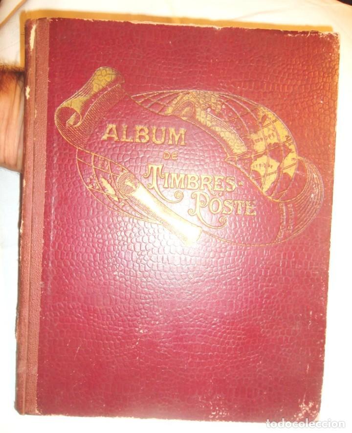PETIT ALBUM DE TIMBRES-POSTE YVERT ET TELLIER 1921 DES CINQ PARTIES DU MONDE 7 ED AMIENS TBE (Sellos - Material Filatélico - Álbumes de Sellos)