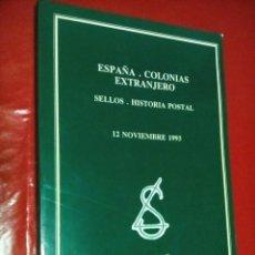 Sellos: SELLOS. HISTORIA POSTAL.ESPAÑA. COLONIAS. EXTRANJERO- 12 NOVIEMBRE 1993. FILATELIA. Lote 126828251