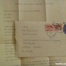 Sellos: CARTA ENVIADA DESDE PUERTO RICO ( ESTADOS UNIDOS ) EN 1952 A SEVILLA. SELLO IMPRESO Y AEREOS. Lote 128367855