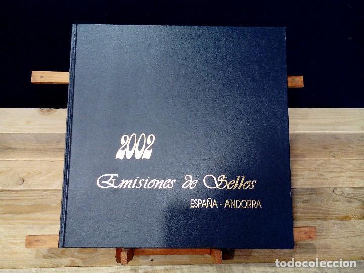 EMISIONES DE SELLOS EDIFIL ESPAÑA-ANDORRA. (2002). - ALBÚM COMPLETO. (40 FOTOGRAFÍAS). (Sellos - Material Filatélico - Álbumes de Sellos)