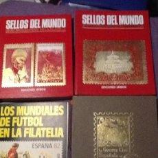 Sellos: LOTE DE 4 ÁLBUMES CASI COMPLETOS EN MUY BUEN ESTADO . SOLO FALTAN 6 SELLOS EN TOTAL. Lote 138613390