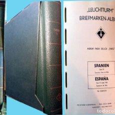 Sellos: ESPAÑA,1950/1975, ALBUM TAPAS Y HOJAS MARCA FARO,CON FILOSTUCHES TRASPARENTES.PVP 400 €.CON +70% DTO. Lote 138758394