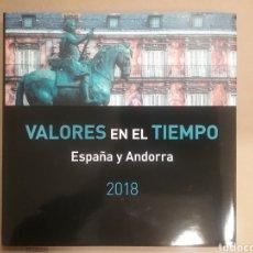 Sellos: LIBRO VALORES EN EL TIEMPO DE CORREOS 2018 SIN SELLOS. Lote 156910641
