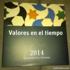 Sellos: VALORES EN EL TIEMPO, SELLOS DE ESPAÑA Y ANDORRA 2014, ENVÍO GRATIS. Lote 146044334