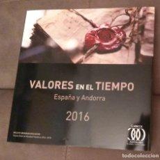 Sellos: VALORES EN EL TIEMPO, SELLOS DE ESPAÑA Y ANDORRA 2016, ENVÍO GRATIS. Lote 146044650
