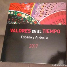 Sellos: VALORES EN EL TIEMPO, SELLOS DE ESPAÑA Y ANDORRA 2017, ENVÍO GRATIS. Lote 146044874