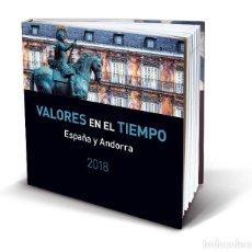 Sellos: VALORES EN EL TIEMPO SELLOS ESPAÑA Y ANDORRA 2018. Lote 146299530