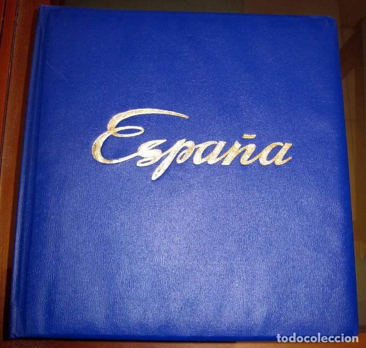 ÁLBUM SELLOS ESPAÑA MAJÓ 1850-1977 - HOJAS A ESTRENAR (Sellos - Material Filatélico - Álbumes de Sellos)