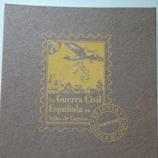 Sellos: ÁLBUM VACÍO COLECCIÓN LA GUERRA CIVIL ESPAÑOLA EN SELLOS DE CORREOS. PARA HOJAS BLOQUE. 1,1 KG. Lote 147337998