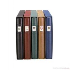 Sellos: LINDNER ALBUN SELLOS 1122-S - TAPA DE ANILLAS STANDARD DE 18 ANILLAS. NEGRA. JUEGO TAPA+ESTUCHE. Lote 148141762