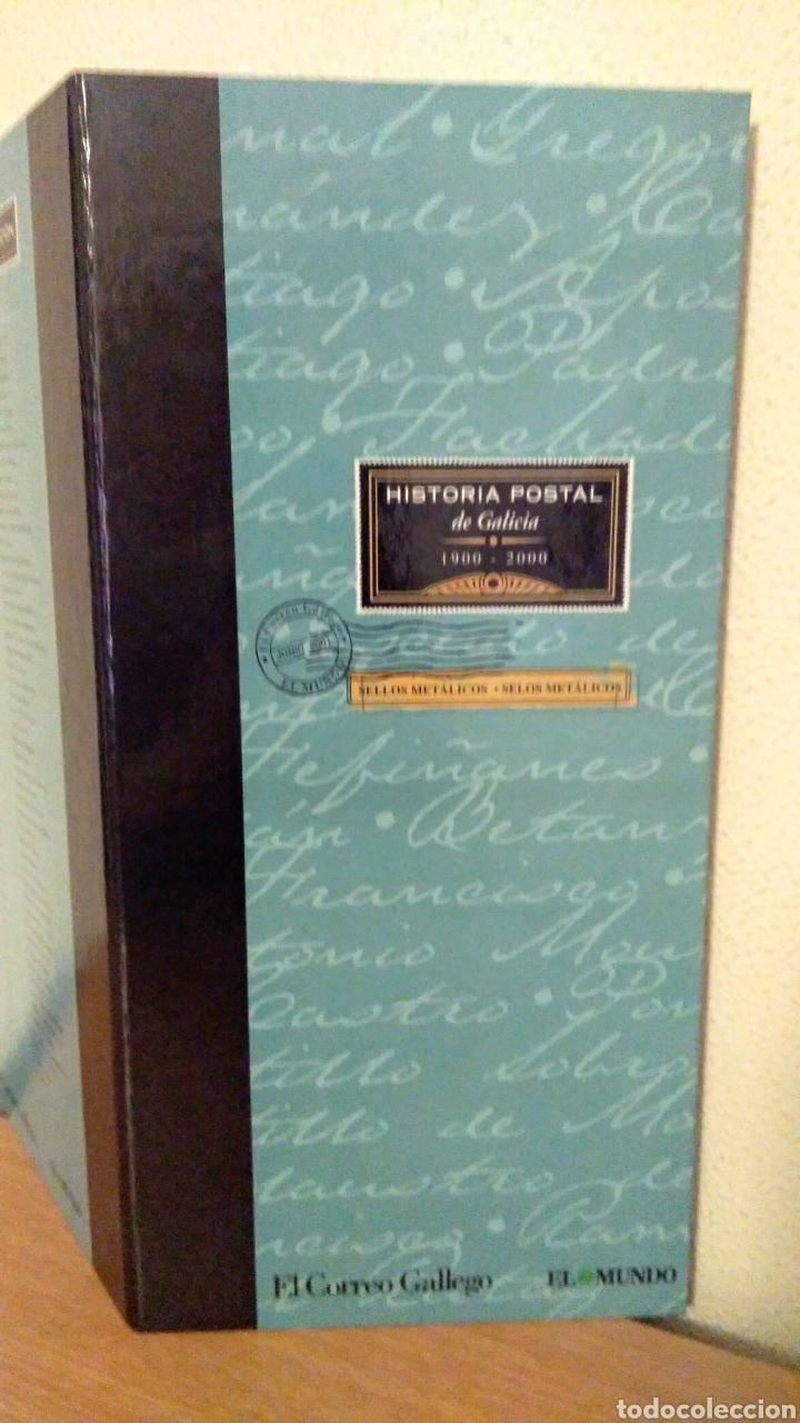ÁLBUM HISTORIA POSTAL DE GALICIA (Sellos - Material Filatélico - Álbumes de Sellos)