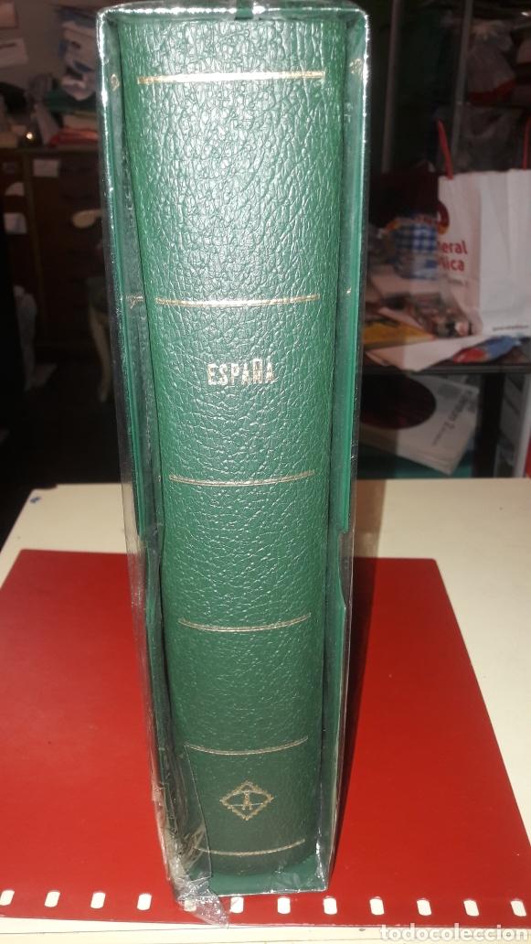 ALBUM ESPAÑA FARO LEUCHTTURM 1950/1964 DL LUXUS ESTUCHES BLANCOS (Sellos - Material Filatélico - Álbumes de Sellos)
