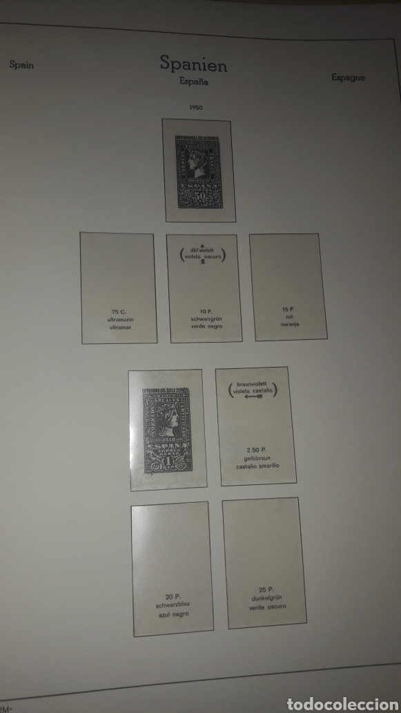Sellos: Album España Faro Leuchtturm 1950/1964 DL Luxus estuches blancos - Foto 4 - 149302974