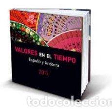 Sellos: ESPAÑA 2017. ALBUM-LIBRO DE CORREOS 2017 CON SELLOS DE ESPAÑA Y ANDORRA. BAJO FACIAL. Lote 153708622