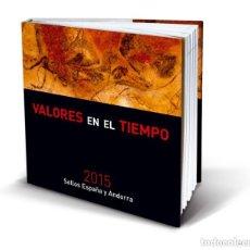 Sellos: ESPAÑA 2015. ALBUM-LIBRO DE CORREOS 2015 CON SELLOS Y PRUEBAS DE ARTISTA ESPAÑA ANDORRA. BAJO FACIAL. Lote 153709022