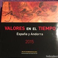 Sellos: LIBRO SIN SELLOS VALORES EN EL TIEMPO AÑO 2015. ALBUM CULTURAL SELLOS ESPAÑA Y ANDORRA.. Lote 153812446