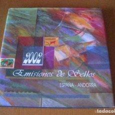 Sellos: ESPAÑA 2002. ALBUM DE SELLOS 2002 DE ESPAÑA Y ANDORRA. CON SELLOS.. Lote 154837718