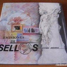 Sellos: ESPAÑA 2003. ALBUM DE SELLOS 2003 DE ESPAÑA Y ANDORRA. CON SELLOS.. Lote 154837838