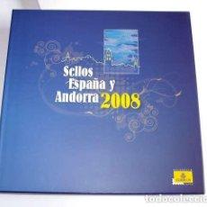 Sellos: ESPAÑA 2008. ALBUM DE SELLOS 2008 DE ESPAÑA Y ANDORRA. CON SELLOS.. Lote 154838518