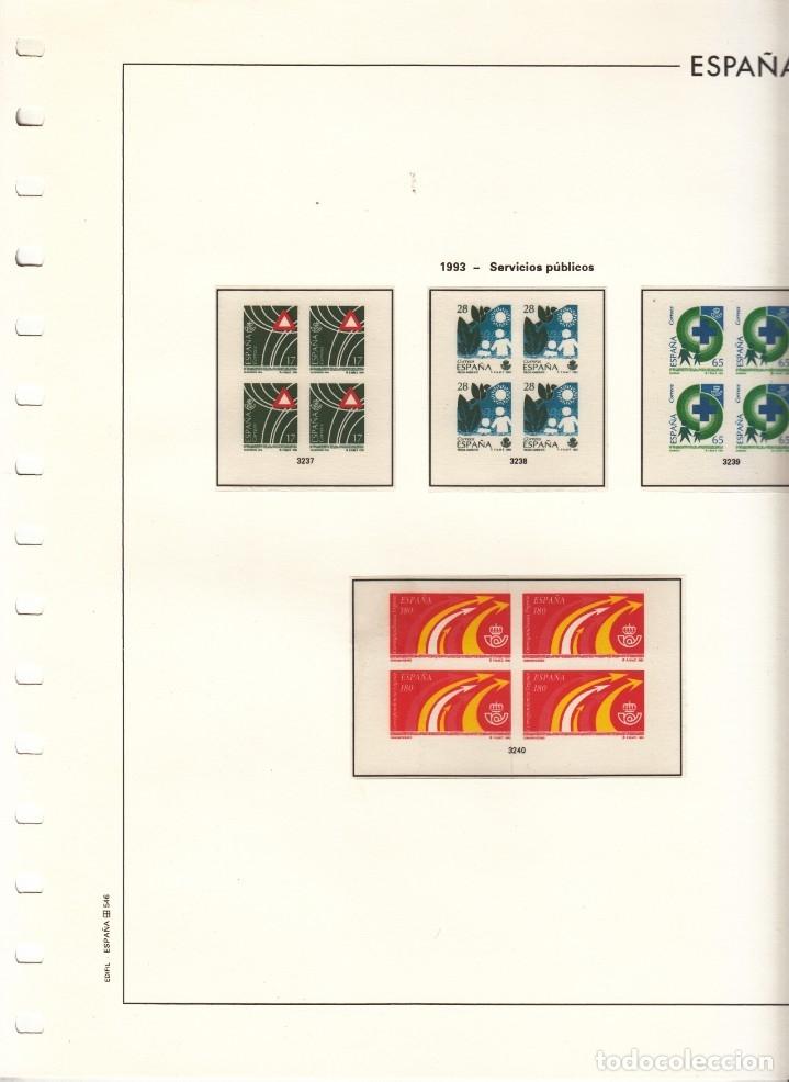 OFERTA HOJAS EDIFIL 1993/4 BLOQUE CUATRO EST. TRANSPARENTES, TAPA PLASTICO SIN SELLOS PVP 105 (Sellos - Material Filatélico - Álbumes de Sellos)