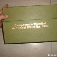 Sellos: CAJA ALBUM CAMPEONATO MUNDIAL DE FUTBOL ESPAÑA 1982 CON 72 SOBRES CON SELLOS , SIN CIRCULAR. Lote 157349094