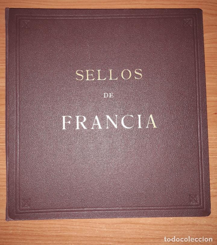 ALBUM USADO DE FRANCIA CON HOJAS LEER DESCRIPCION (Sellos - Material Filatélico - Álbumes de Sellos)