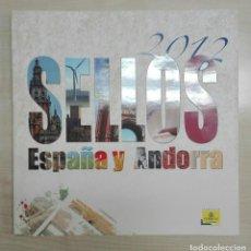 Sellos: LIBRO SELLOS CORREOS AÑO 2.012. Lote 159639370