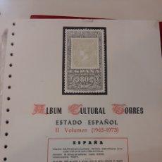 Sellos: DITRIBUIDOR ÁLBUM TORRES ESTADO ESPAÑOL 1965.ª 1973 SIN MONTAR MONTADO 90 EUROS DISTRIBUIDAS. Lote 168572490