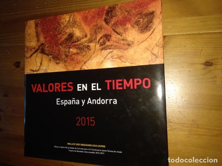 2015-ESPAÑA Y ANDORRA EN LIBRO-ÁLBUM SERVICIO FILATÉLICO DE CORREOS - SIN SELLOS (Sellos - Material Filatélico - Álbumes de Sellos)