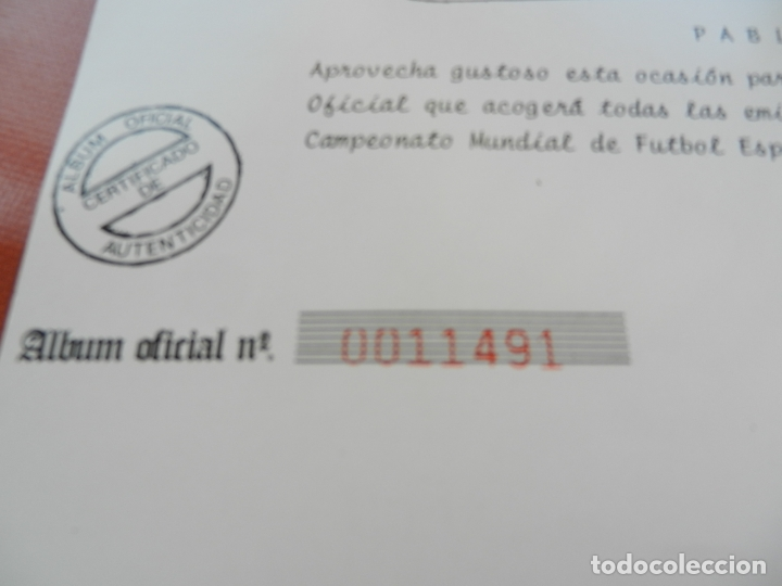 Sellos: SELLOS SOBRE EL CAMPEONATO MUNDIAL DE FUTBOL ESPAÑA 82. - Foto 2 - 172863099