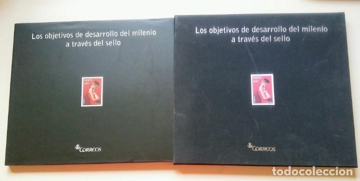 LOS OBJETIVOS DEL DESARROLLO DEL MILENIO (Sellos - Material Filatélico - Álbumes de Sellos)