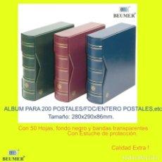 Sellos: ALBUM PARA 200 CARTAS Y/Ó SPD. CON 50 HOJAS DE DOS CARAS, TAMAÑO: 280X290X86MM.. Lote 239760015