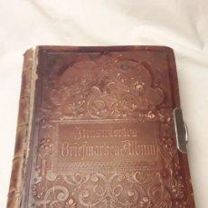 Sellos: MAGNIFICO Y MUY RARO ANTIGUO ÁLBUM SELLOS ILLUSTRIERTES BRIEFMARKEN ALBUM LEIPZIG AÑO 1892. Lote 175842007